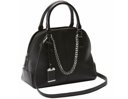 Bulldog Cases Satchel Purse w/ Holster, Black with Black Trim and Chain - BDP-021