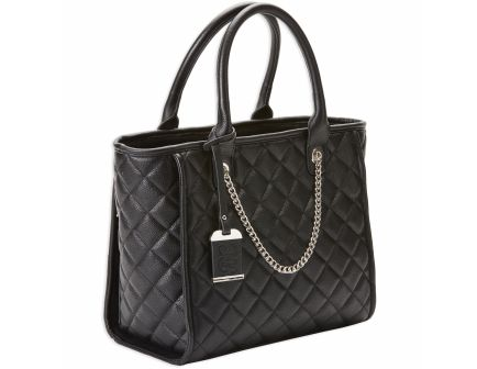 Bulldog Cases Tote Quilted Purse w/ Holster, Black - BDP-058