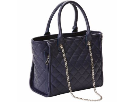 Bulldog Cases Tote Quilted Purse w/ Holster, Navy - BDP-059