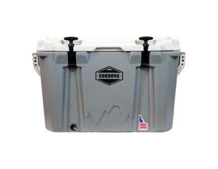 Cordova Coolers Adventurer Medium Cooler w/ NRA Logo, 48 qt, Gray - CCMG45QTNRA