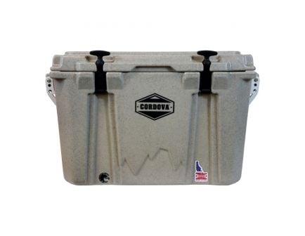 Cordova Coolers Adventurer Medium Cooler w/ NRA Logo, 48 qt, Sandstone Granite - CCMSG45QTNRA