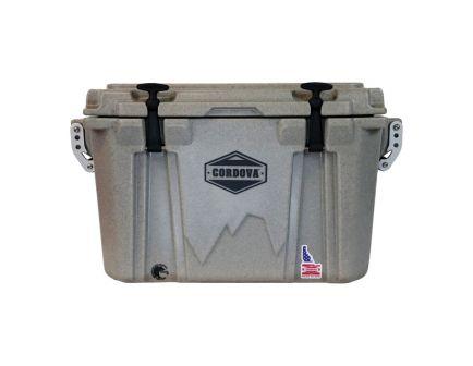 Cordova Coolers Companion Small Cooler w/ NRA Logo, 28 qt, Sandstone Granite - CCSSG28QTNRA