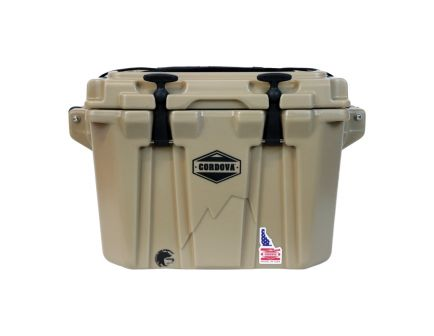 Cordova Coolers Side-Kick Extra Small Cooler w/ NRA Logo, 20 qt, Sand - CCXSSS20NRA