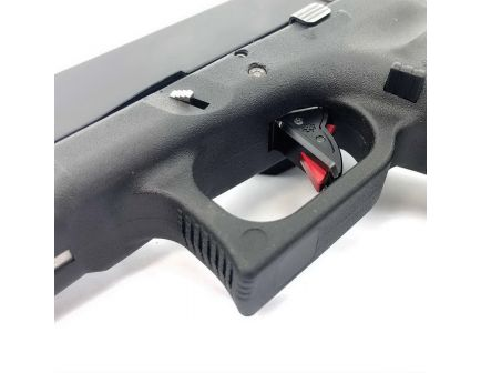 Cross Armory Enhanced Flat Faced Trigger w/ Bar for Glock 40 S&W Gen 1 to 4 Pistols, Black/Red - CRGTDI40