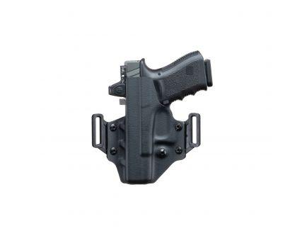 Crucial Concealment Covert Left Hand Glock 19 OWB Holster, Black - 1009