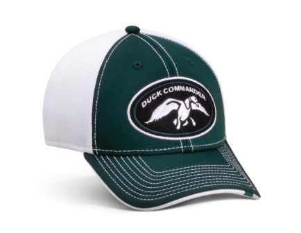 Duck Commander Cotton/Polyester Sports Cap, Green/White - DHGWM
