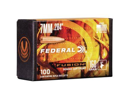 Federal Fusion Component 7mm 160 gr SP Bullet, 100/box - FB284F3