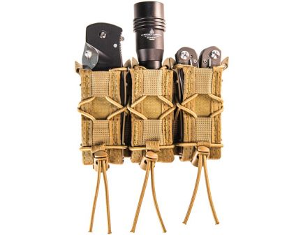 High Speed Gear 11PT03/Taco Molle Triple Pistol Magazine Pouch, Coyote Brown - 11PT03CB