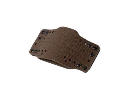 Limbsaver CrossTech Leather Ambidextrous IWB/OWB Clip-On Gun Holster, Dark Brown - 12522