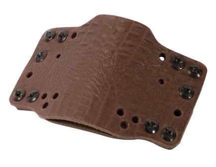 Limbsaver CrossTech Universal Handgun Holster, Leather, Ambidextrous IWB/OWB, Dark Brown - 12527