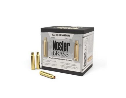 Nosler .223 Rem Brass Full Length Cartridge Case, 100/box - 10098
