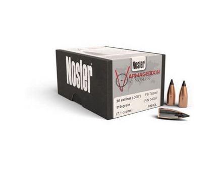 Nosler Varmageddon .30 110 gr FBTP Rifle Bullet, 100/box - 34057