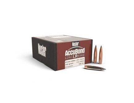 Nosler AccuBond Long Range 6.5mm 142 gr SBT Rifle Bullet, 100/box - 58922