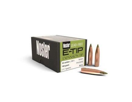 Nosler E-Tip Lead-Free .30 180 gr SBT Rifle Bullet, 50/box - 59180