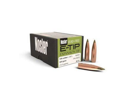 Nosler E-Tip Lead-Free .338 225 gr SBT Rifle Bullet, 50/box - 59372