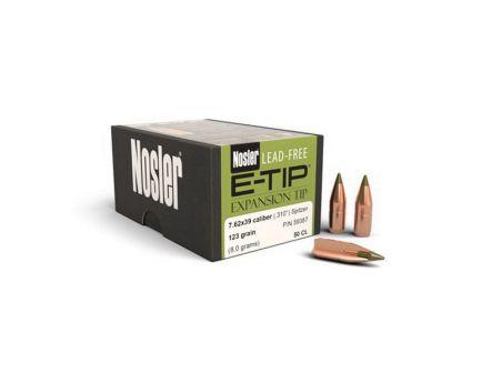 Nosler E-Tip Lead-Free 7.62x39mm 123 gr SBT Rifle Bullet, 50/box - 59387