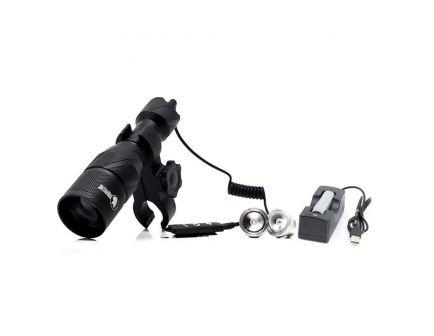 Predator Tactics Eradicator LED Rechargeable Waterproof Light Kit, Black - 97513