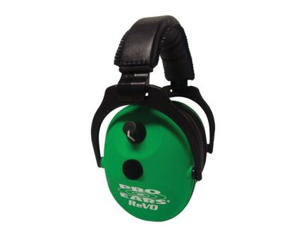 Pro Ears ReVO 25 dB Over the Head Hearing Protection Electronic Earmuff, Neon Green - ER300NG