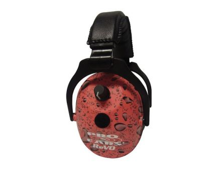 Pro Ears ReVO 25 dB Over the Head Hearing Protection Electronic Earmuff, Pink Rain - ER300PR