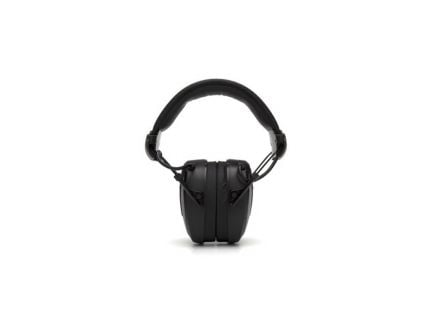 Pyramex Clandestine 24 dB Over the Head Electronic Earmuff, Black - VGPME10