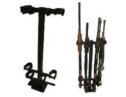 Ranger Rugged Gear Black Metal Removable Compact Floor Mount 4-Gun Holder, Universal - 10084