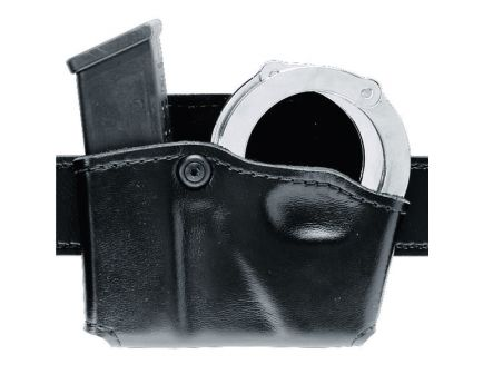 Safariland 573 Open Top Magazine and Hand Cuff Pouch, Plain Black - 573-83-21
