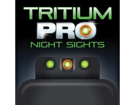 TruGlo Tritium Pro Night Sight Set for S&W Shield EZ 380 Pistol, Green with Orange Outline Front/Green with Black Rear - TG231MP3C