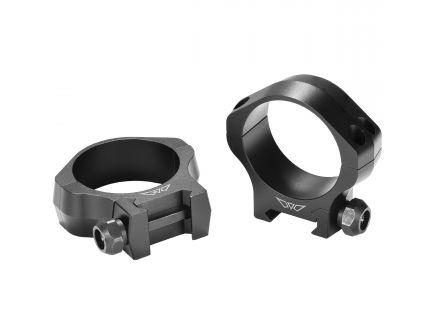 Warne Scope Mounts Mountain Tech 40mm Low 7075 T6 Aluminum Precision Scope Ring, Hardcoat Anodized Matte Black - 7250M