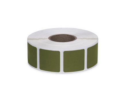 "Action Target Law Enforcement 0.875"" Square Self-Adhesive Target Bullet Hole Repair Paster, Dark Green, 1000/box - PAST/DKGR"