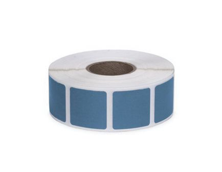 "Action Target Law Enforcement 0.875"" Square Self-Adhesive Target Bullet Hole Repair Paster, Light Blue, 1000/box - PAST/LBL"