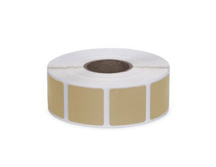 """Action Target Law Enforcement 0.875"""" Square Self-Adhesive Target Bullet Hole Repair Paster, Buff, 1000/box - PAST/BUFF"""