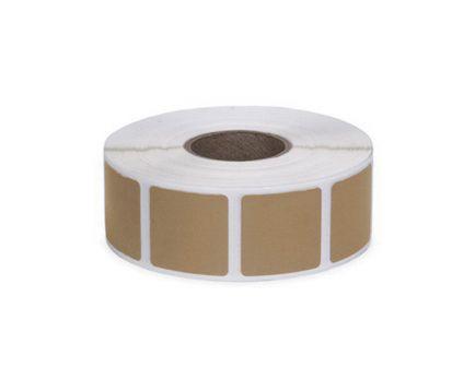 "Action Target Law Enforcement 0.875"" Square Self-Adhesive Target Bullet Hole Repair Paster, Brown, 1000/box - PAST/BR"