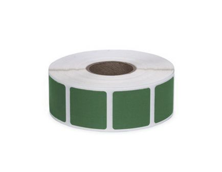 """Action Target Law Enforcement 0.875"""" Square Self-Adhesive Target Bullet Hole Repair Paster, Green, 1000/box - PAST/GR"""