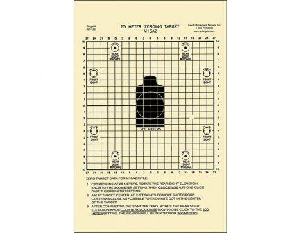 """Action Target Law Enforcement 8.75"""" x 11.5"""" M16 Zeroing Target, Black, 100/box - ALT C(2)-100"""