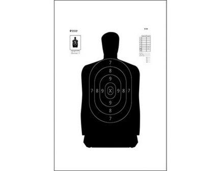 "Action Target Law Enforcement 17.5"" x 23"" Silhouette B-34 Qualification Target, Black, 100/box - B-34-100"