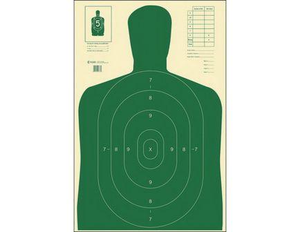 "Action Target Law Enforcement 23"" x 35"" Silhouette B-27E Economy Target, Green, 100/box - B-27E GREEN-100"