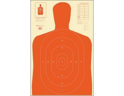 "Action Target Law Enforcement 23"" x 35"" Silhouette B-27E Economy Target, Orange, 100/box - B-27E-ORANGE 100"
