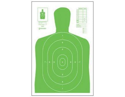 "Action Target Law Enforcement 23"" x 35"" Silhouette B-27E High Visibility Target, Fluorescent Green, 100/box - B-27E-LGR-100"