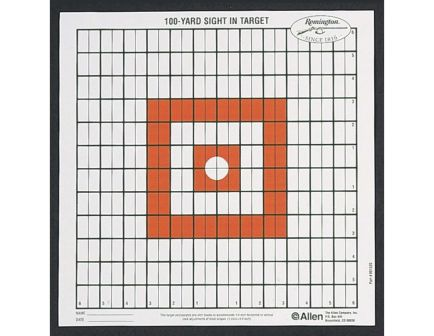 Allen 100 yd Remington Grid Style Sight-In Target, Black/White - 1520