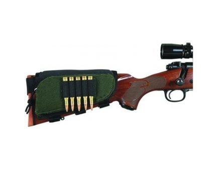 Allen 5 Cartridge Adjustable Buttstock Cartridge Holder, Green/Black - 20550