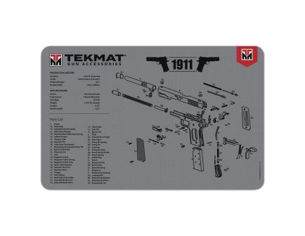 "TekMat 1911 Cleaning Mat, 11"" W x 17"" H x 0.125"" T, Illustration Gray - R171911GY"