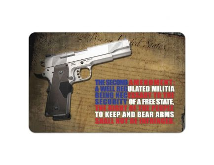 "TekMat Right To Bear Arms 2nd Amendment Cleaning Mat, 11"" W x 17"" H x 0.125"" T, Multi-Color - R172AMEND"