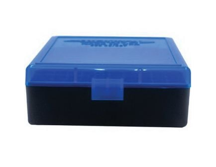 Berrys Bullets 003 .38 Spl/357 Mag 100 Round Flip-Top Ammo Box, Blue/Black - 95182