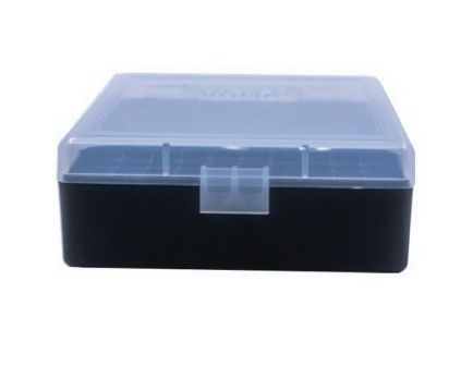 Berrys Bullets 003 .38 Spl/357 Mag 100 Round Flip-Top Ammo Box, Clear/Black - 15382