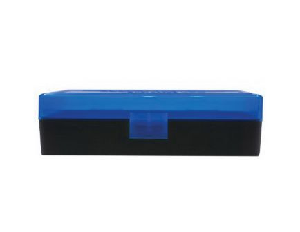 Berrys Bullets 408 .40 S&W/.45 ACP/10mm 50 Round Flip-Top Ammo Box, Blue/Black - 38861