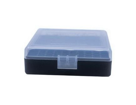 Berrys Bullets .22lr 100 Round Flip-Top Ammo Box, Clear/Black - 63600