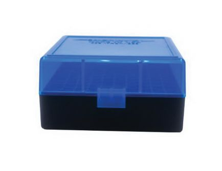 Berrys Bullets 005 .223 Rem/5.56 100 Round Flip-Top Ammo Box, Clear/Blue - 86410