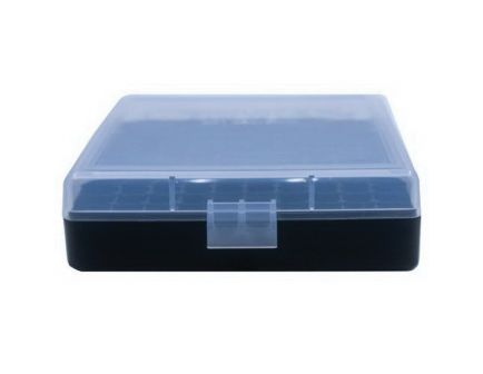Berrys Bullets 001 .380 ACP/9mm 100 Round Flip-Top Ammo Box, Clear/Black - 87412