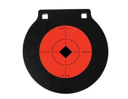 """Birchwood Casey World of Targets 6"""" Double Hole Gong Target, Orange/Black - 47608"""