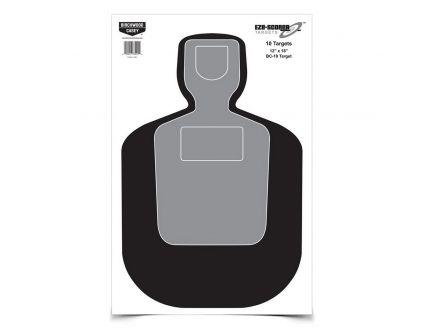 "Birchwood Casey EZE-Scorer 12"" x 18"" Silhouette BC19 Practice Target, Black/Gray, 100/pack - 37007"